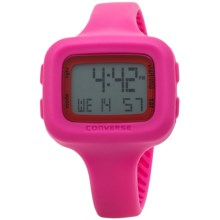 Converse Understatement Digital Watch - Silicone Strap (For Women) in Pink - Closeouts