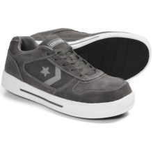 Converse Work Skate Shoes - Suede (For Men) in Grey/Silver - Closeouts