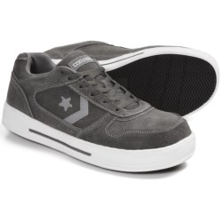 Converse Work Skate Shoes - Suede (For Youth Boys and Men) in Grey/Silver