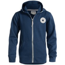 Converse Zip-Up Hoodie (For Big Kids) in Navy - Closeouts