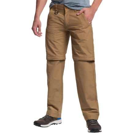 Convertible Pants - Zip-Off Legs, Cotton-Nylon (For Men) in Dark Camel - 2nds