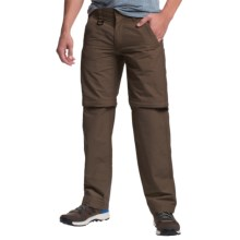Convertible Pants - Zip-Off Legs, Cotton-Nylon (For Men) in Olive Brown - 2nds