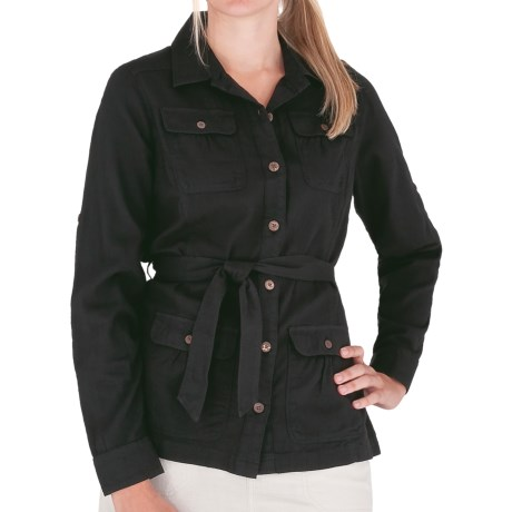 Image of Cool Mesh Cotton Shirt Jacket - Long Sleeve (For Women)