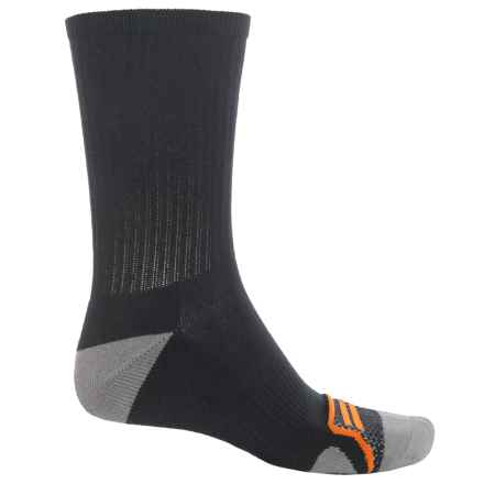 CoolMax® Crew Socks (For Men) in Black/Grey/Pumpkin - Overstock