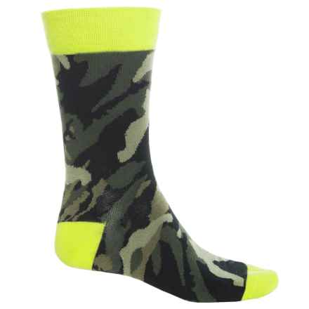 CoolMax® Crew Socks (For Men) in Lime/Woodland Camo - Overstock