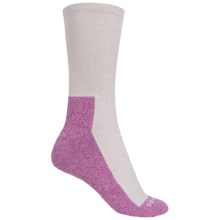 CoolMax® Trail Socks - Crew (For Women) in Pink - 2nds