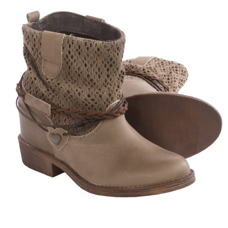Coolway Clea Leather Ankle Boots Hidden Wedge Heel (For Women)