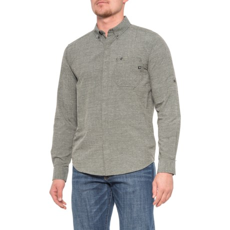 Cooper Canyon Shirt - Long Sleeve (For Men) - CROCODILE (L )