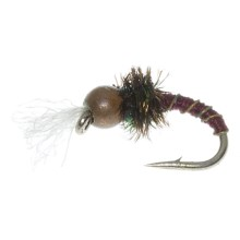 Copper Bead Head Frost Bite Nymph Fly - Dozen in Natural - Closeouts