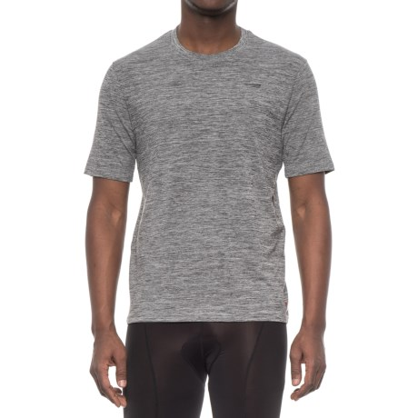 Copper Fit Compression T-Shirt - Short Sleeve (For Men) in Charcoal Heather