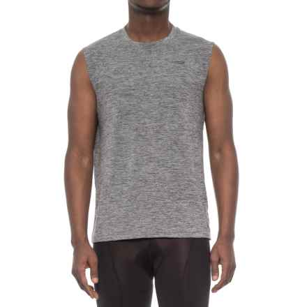Copper Fit Compression Tank Top (For Men) in Charcoal Heather - Closeouts