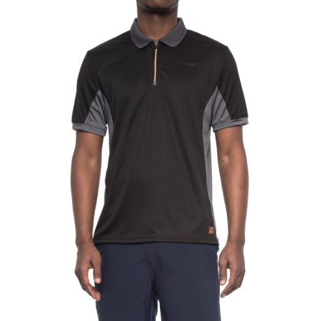 Copper Fit Cooling Polo Shirt - Short Sleeve (For Men) in Onyx