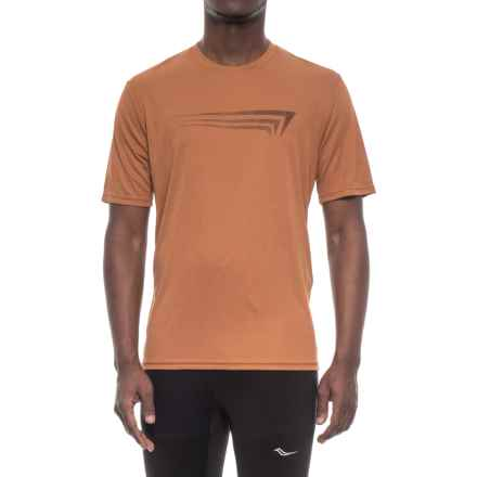 Copper Fit Graphic T-Shirt - Short Sleeve (For Men) in Copper Heather - Closeouts
