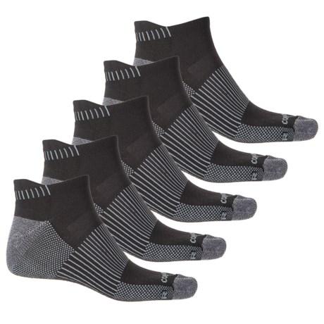 Copper Fit Half-Cushion Socks - 5-Pack, Below the Ankle (For Men) in Black