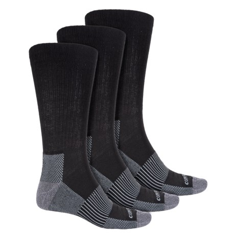 Copper Fit Heathered Socks - 3-Pack, Crew (For Men) in Black