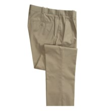 Corbin Imperial Poplin Pants - Pleats (For Men) in Olive - Closeouts