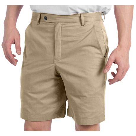 Corbin Patch Madras Shorts - Reversible, Flat Front (For Men) in Light Green/Khaki