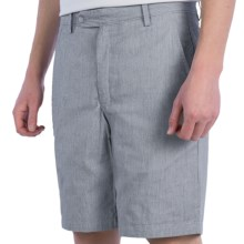Corbin Pincord Shorts - Reversible (For Men) in Gray/Gray - Closeouts