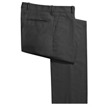 Corbin Prime Poplin Pants - Flat Front (For Men) in Black - Closeouts