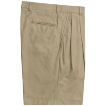 Corbin Prime Poplin Walking Shorts - Pleats (For Men) in Khaki - Closeouts