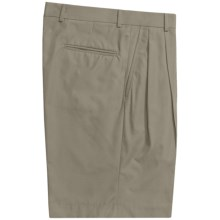 Corbin Prime Poplin Walking Shorts - Pleats (For Men) in Olive - Closeouts