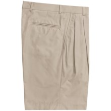 Corbin Prime Poplin Walking Shorts - Pleats (For Men) in Stone - Closeouts