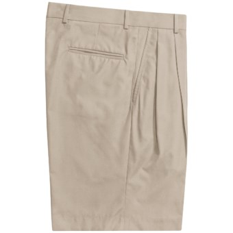Corbin Prime Poplin Walking Shorts - Pleats (For Men) in Stone