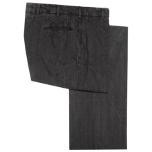 Corbin Prince of Wales Cotton Pants - Flat Front (For Men) in Black - Closeouts