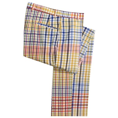Corbin Seersucker Pants - Cotton (For Men) in Multi Check Seersucker