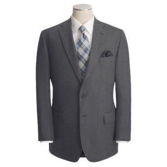 Corbin Solid Suit - Wool (For Men) in Med Grey