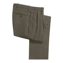 Corbin Spotless Dress Pants - Unhemmed, Pleated (For Men) in Dark Sage - Closeouts