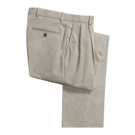 Corbin Spotless Dress Pants - Unhemmed, Pleated (For Men) in Stone