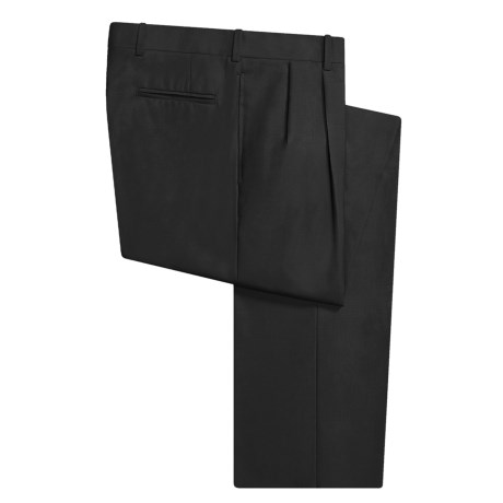 Corbin Wool Dress Pants - Pleated (For Men) in Black