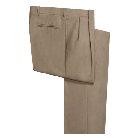 Corbin Wool Dress Pants - Pleated (For Men) in Navy