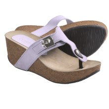Cordani Arcadia Wedge Sandals - Suede (For Women) in Lavender Suede - Closeouts