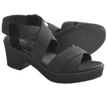 Cordani Quill Wedge Sandals (For Women) in Black Nylon - Closeouts