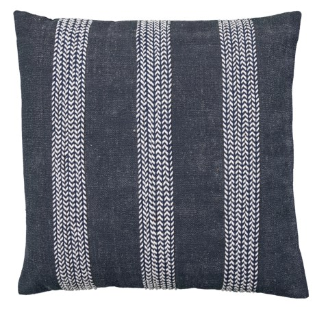 Image of Corded Navy Throw Pillow - 22x22? Feather Fill