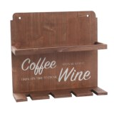 Core Bamboo Coffee and Wine Wall Storage