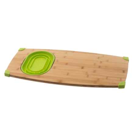 Core Bamboo Corner Grip Over-the-Sink Cutting Board - Bamboo in Lime - Overstock