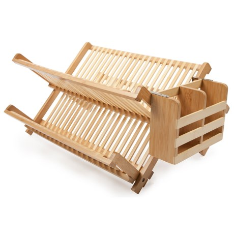 Image of Core Bamboo Dish Rack with Utensil Holder