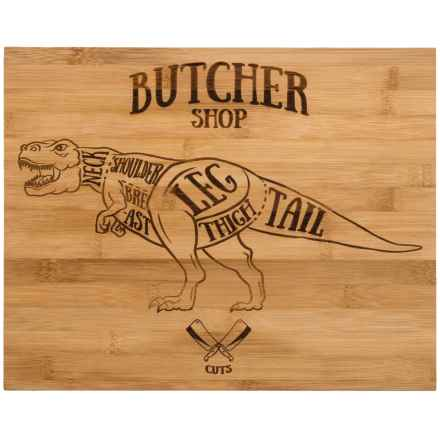 Core Bamboo Etched Dinosaur Bamboo Cutting Board in Bamboo - Overstock