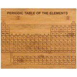 Core Bamboo Etched Periodic Table Bamboo Cutting Board