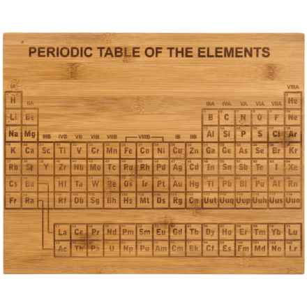 Core Bamboo Etched Periodic Table Bamboo Cutting Board in Natural - Overstock