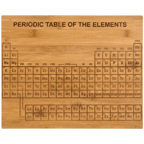 Core Bamboo Etched Periodic Table Bamboo Cutting Board in Natural