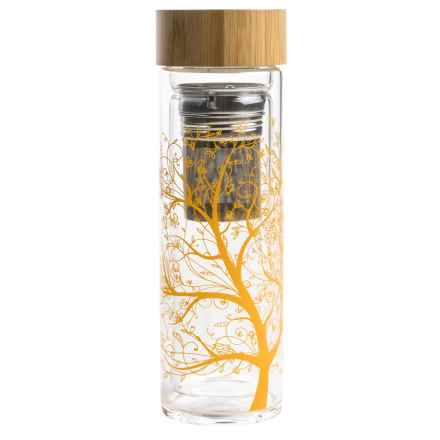 Core Bamboo Glass Wai Bottle with Bamboo Lid - 14 fl.oz. in Orange - Closeouts