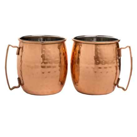 Core Bamboo Hammered Moscow Mule Mugs - 20 fl.oz., Set of 2 in Copper - Overstock