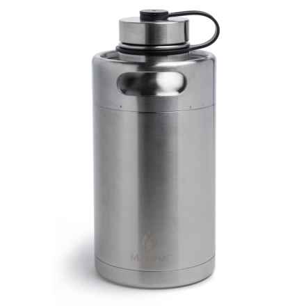 Core Bamboo Keg Growler - 64 fl.oz. in Stainless Steel - Closeouts
