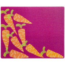 """Core Bamboo Large Glass Prep Board - 12x15"""" in Vintage Carrot - Closeouts"""