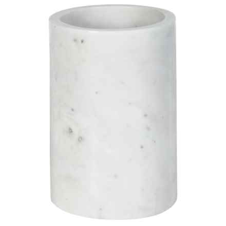 Core Bamboo Marble Utensil Holder in White - Closeouts