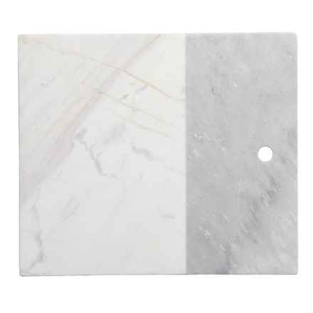 Core Bamboo Medici Two-Tone Marble Serving Board in Grey Marble - Closeouts